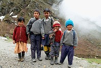 School boys, Sikkim, India