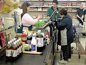 Activity in a Kroger supermarket.