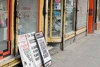 Front of a newsagents shop in the hillhead neighbourhood of Glasgow. Scotland