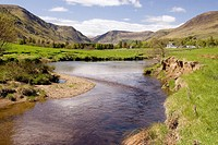 Glen Clova and the River Clova at Milton of Clova. Angus, Scotland