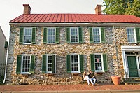 Colonial house, Market Street. Leesburg. Loudoun County, Virginia. USA