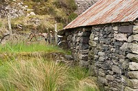 Old barn at Sallachy on the shore of Loch Long. Kintail, Highland, Scotland