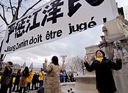 Falun Gong protesters. Paris. France