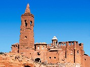 Ruins of church in old Belchite, destroyed during the Spanish Civil War. Zaragoza province, Spain