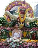 Asia, Chiang mai, Costume, Dress, February, Festival, Floats, Floral, Flower, Holiday, Landmark, Thai, Thailand, Tourism, Tradit