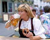 Bavaria, Bavarian, Beer, Costume, Drinking, Eating, Festival, Germany, Europe, Holiday, July, Landmark, Mittenwald, Model, Pretz