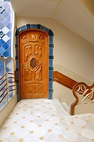 Door in Casa Battlo. By Antoni Gaudi (1904-1906). Barcelona. Spain