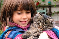 CHILD WITH ANIMAL<BR>Model.