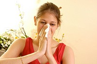 WOMAN  WITH RHINITIS<BR>Model.