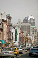 View of Smith street area. Cobble Hill. Brooklyn. New York city. USA.