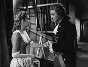 Film ´Reich mir die Hand, mein Leben´, Regie: Karl Hartl, Öst. 1955, Szene mit Oskar Werner  (als Wolfgang Amadeus Mozart) & Johanna Matz  (als Annie ...