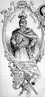 Johann III. Sobieski, 2.6.1624 - 17.6.1696, König  von Polen 21.5.1674 - 17.6.1696, Halbfigur im  Rahmen, Historienbild, Xylografie 19. JH.  Jan, Wahl...