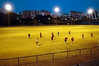 Football field. Valencia. Spain
