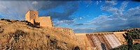 Peñarroya castle (XIIth century), by Peñarroya swamp. The Route of Don Quixote. Argamasilla de Alba. Ciudad Real. Spain