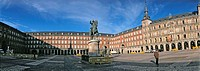 Philip III (1617-1619) equestrian statue. Plaza mayor. Madrid. Spain