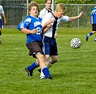 High School soccer futbol football action. Port Huron. Michigan. USA