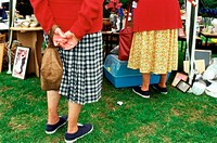 Senior women at boot fair (thumbnail)