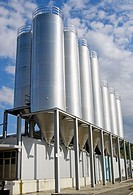 Industrial storage tanks, Switzerland