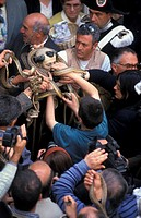 st. dominic feast/snakes, cocullo, italy