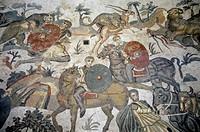 roman villa del casale/mosaic, piazza armerina, italy