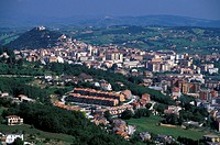 town view, campobasso, italy