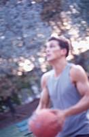 man playing basket