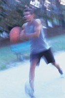 man playing basket