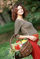 pregnant woman outdoors