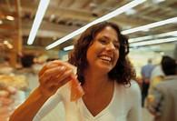 woman, supermarket