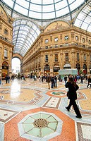 Vittorio Emanuele II Gallery. Milan. Lombardy, Italy