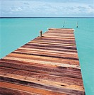 Wooden jetty leading out to sea (thumbnail)