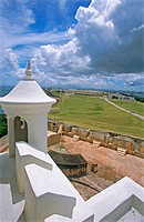 Views from El Morro fortress. Old San Juan. Puerto Rico