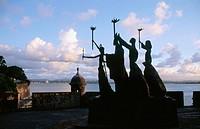 La Rogativa (by sculptor Lindsay Daen). Old San Juan. Puerto Rico.