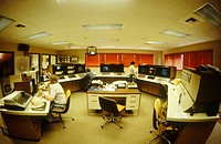 USA. California. Daggett. World´s biggest solar power plant. Control room