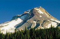 The southern slope of Mount Hood. Mount Hood National Forest, Cascade Mountain Range. Oregon. USA