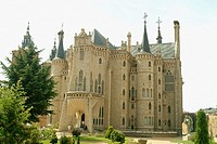 Bishop's Palace, designed by Antonio Gaudí. Astorga. Spain