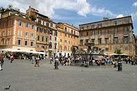 Piazza of Santa Maria in Trastevere. Rome. Italy