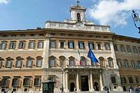 Palazzo di Montecitorio, Italian representative´s chamber. Piazza Montecitorio. Rome. Italy