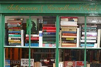 London used books shop in Hampstead. London. England. UK