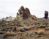 Rock formations with tourists in the background