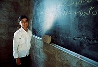 Kurdish girl at village school in Kurdistan Iraq 2004