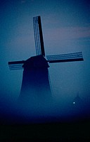 Windmill in fog