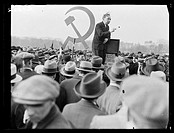 A photograph of a crowd of Jewish protestors and sympathisers meeting in Hyde Park, London, taken by Tomlin for the Daily Herald newspaper on 2 April,...