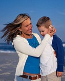 Mother and Son Sharing a Special MomentJones Beach New York State United states of America