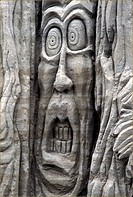 BC, Canada, North America, America, Face, Fear, Harrison Hot Springs, Problem, problematical, Sand, Sand sculpture,