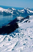Glaciers: Harding icefield, Kenai Fjords National Park. Alaska. USA