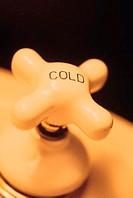 Cold faucet knob