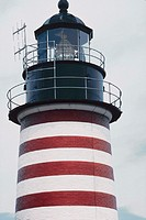 West Quoddy, Maine. Head lighthouse, easternmost point in U.S
