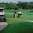 Four men playing golf (thumbnail)