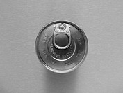 Aluminium drink can, ariel view